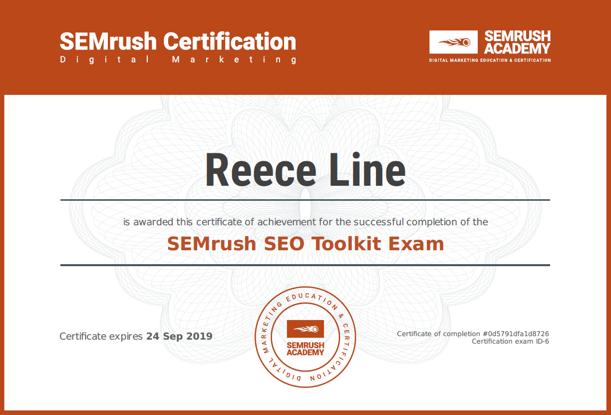 SEO Toolkit Exam
