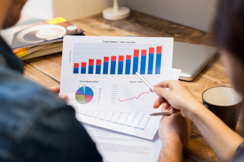 Business graphs and charts